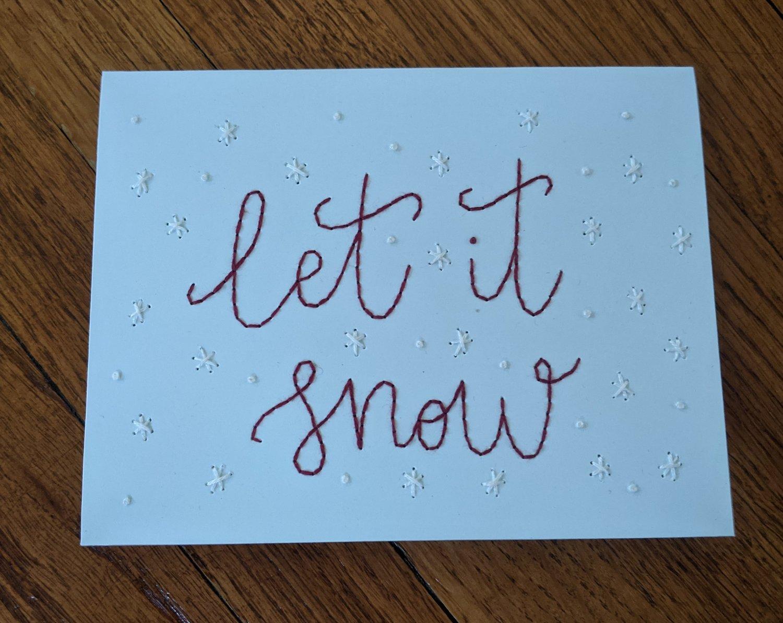 Image of Let it Snow - Blue