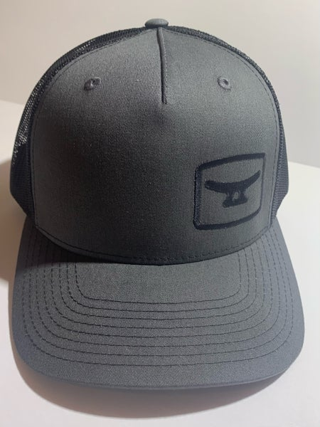 Image of Charcoal/ black 5 panel w/ black logo