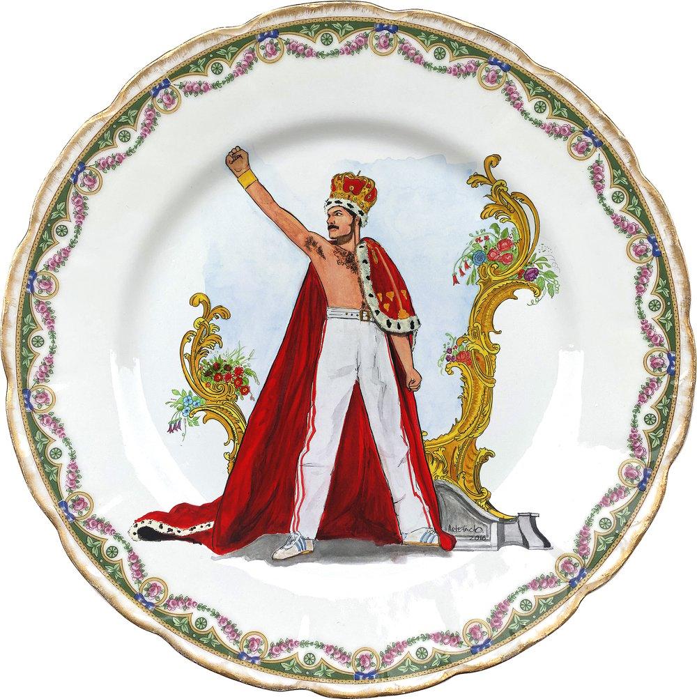 Image of Freddie  - Vintage French Porcelain Plate - #0748