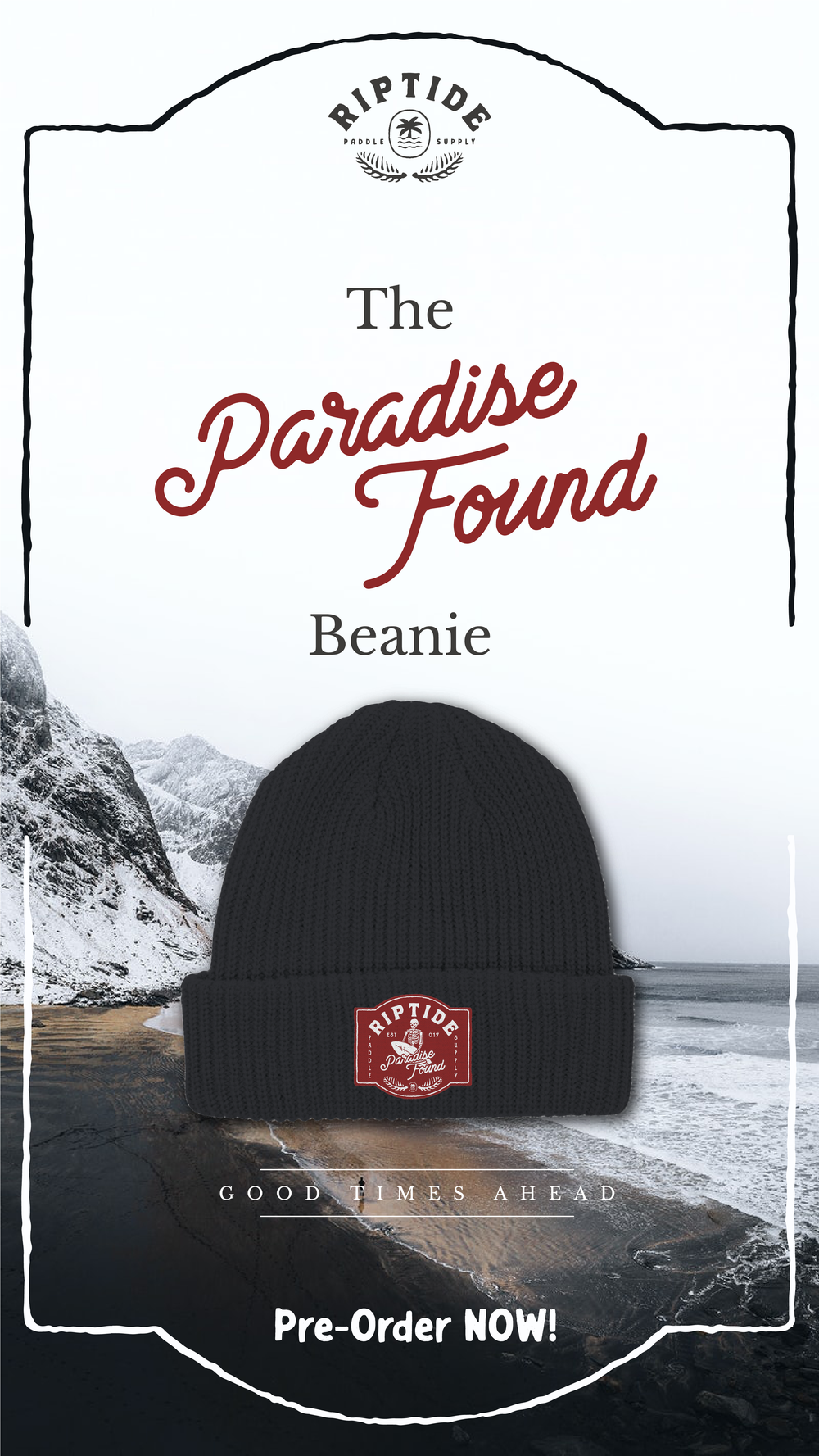 Image of The Paradise Found Beanie (charcoal)