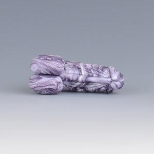 Image of Blueberry Marble Phallus Charm - Flamework Glass Sculpture Bead