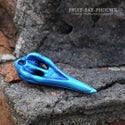 Mini Ornate Bird Skull - Orchid Blue