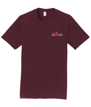 Image of Inside-out debra t-shirt - maroon