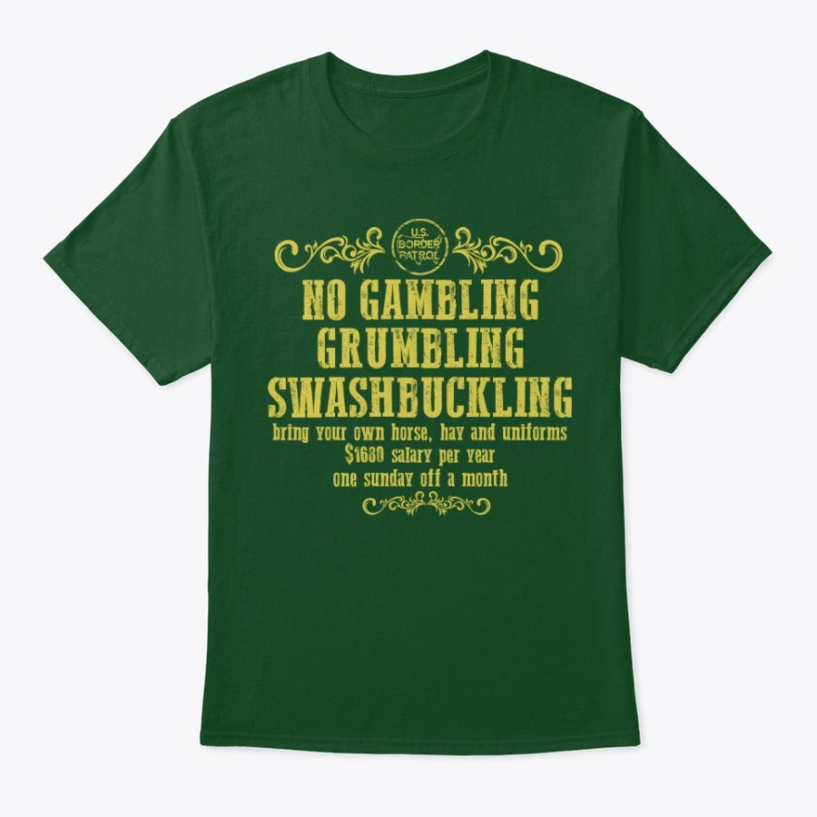 Image of NO GAMBLING , GRUMBLING OR SWASHBUCKLING