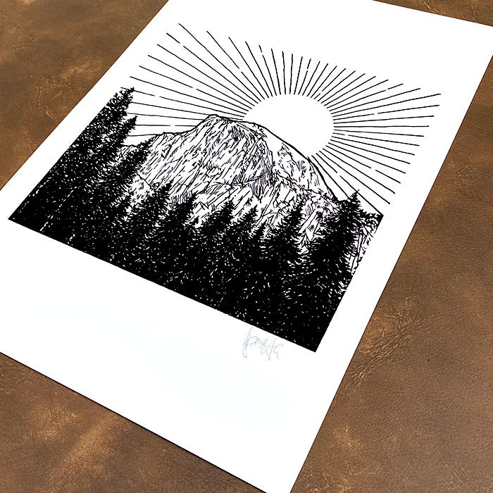 Image of Limited Edition Half Dome Print