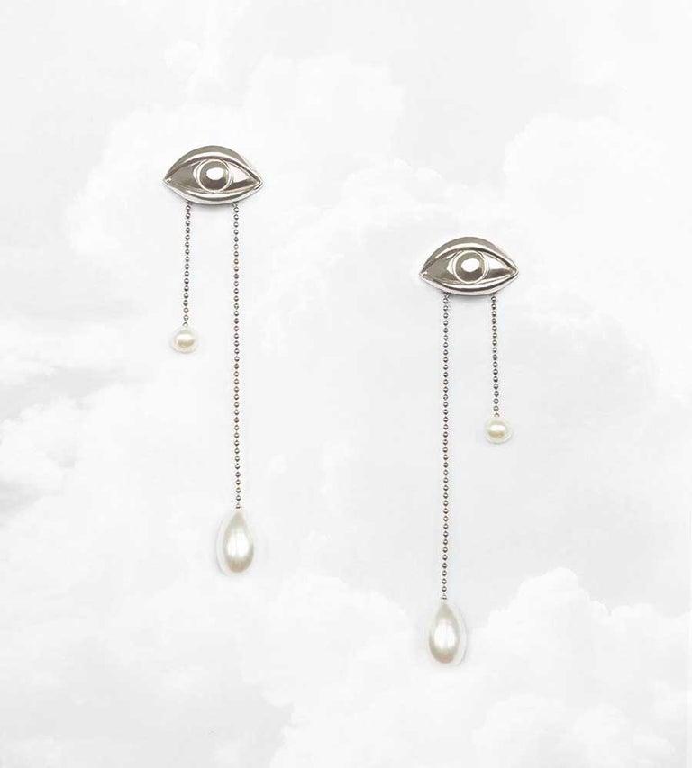 Image of Pendientes ojo y lágrimas plata