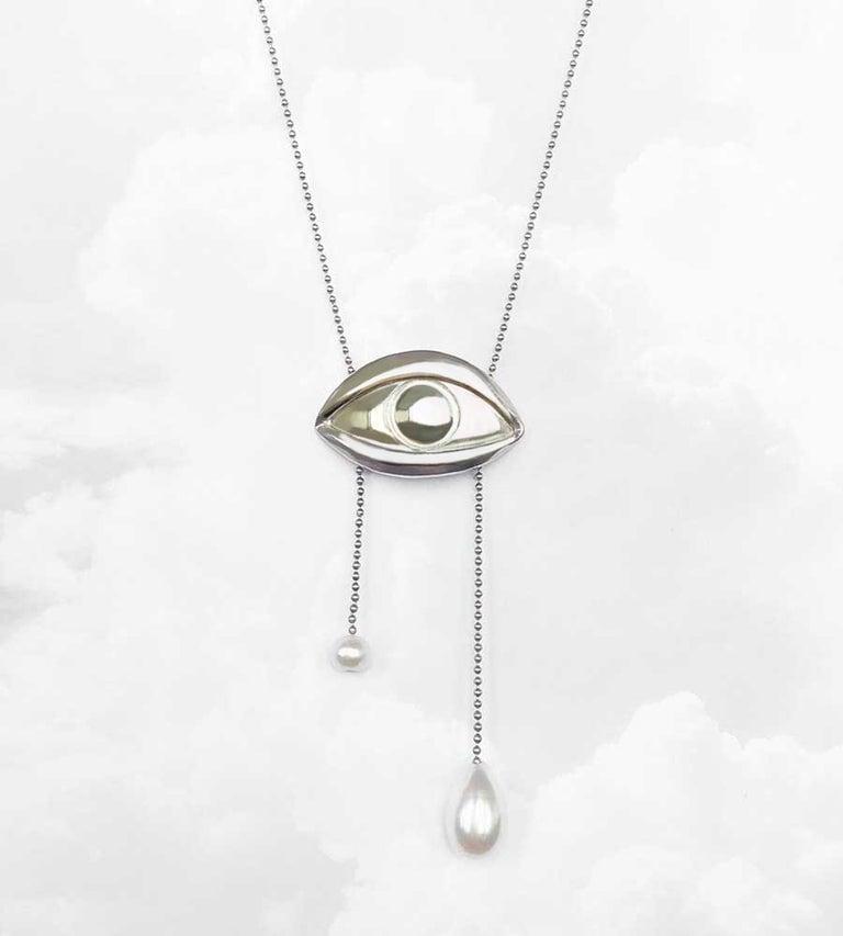 Image of Collar ojo y lágrimas plata