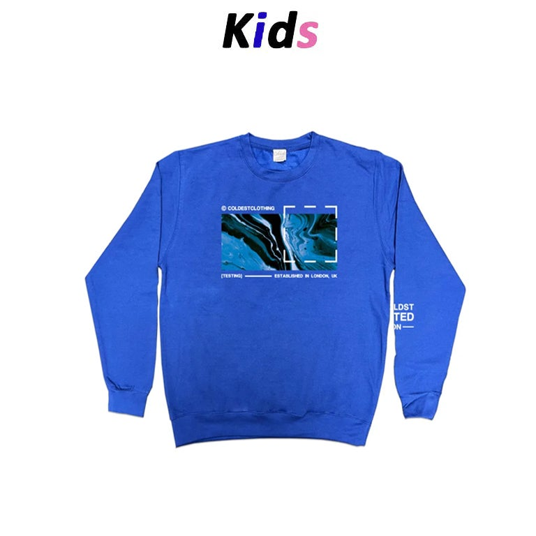 KIDS · LIQUID OCEAN SWEATER