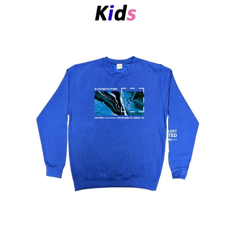 KIDS · LIQUID OCEAN SWEATER