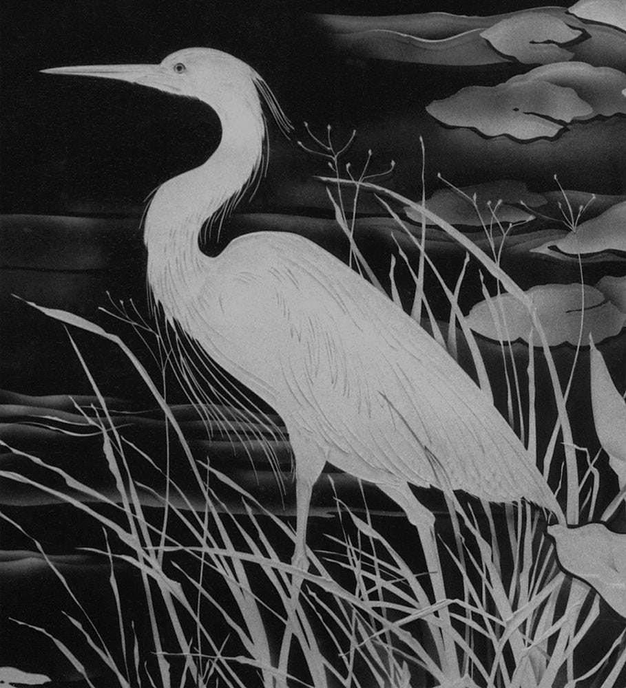 Image of Great Blue Heron Black and White Note Cards