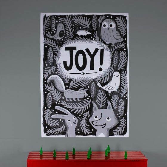 Image of B/W Poster: Joy!