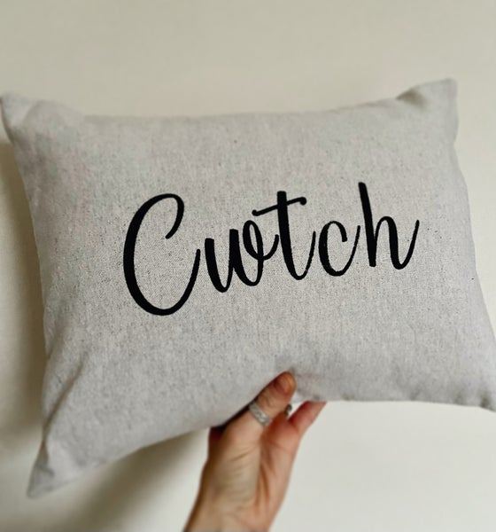 Image of Cwtch Cushion - Charcoal Grey or Natural