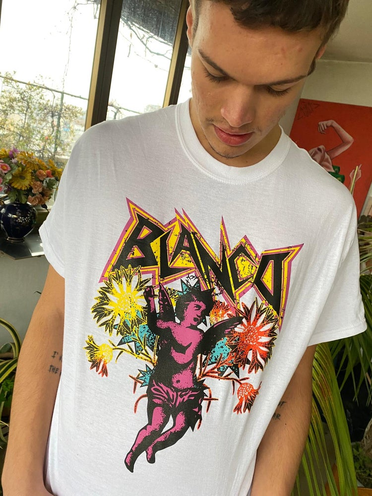 "Image of T-shirt ""Putto"" Bianca BLANCO"