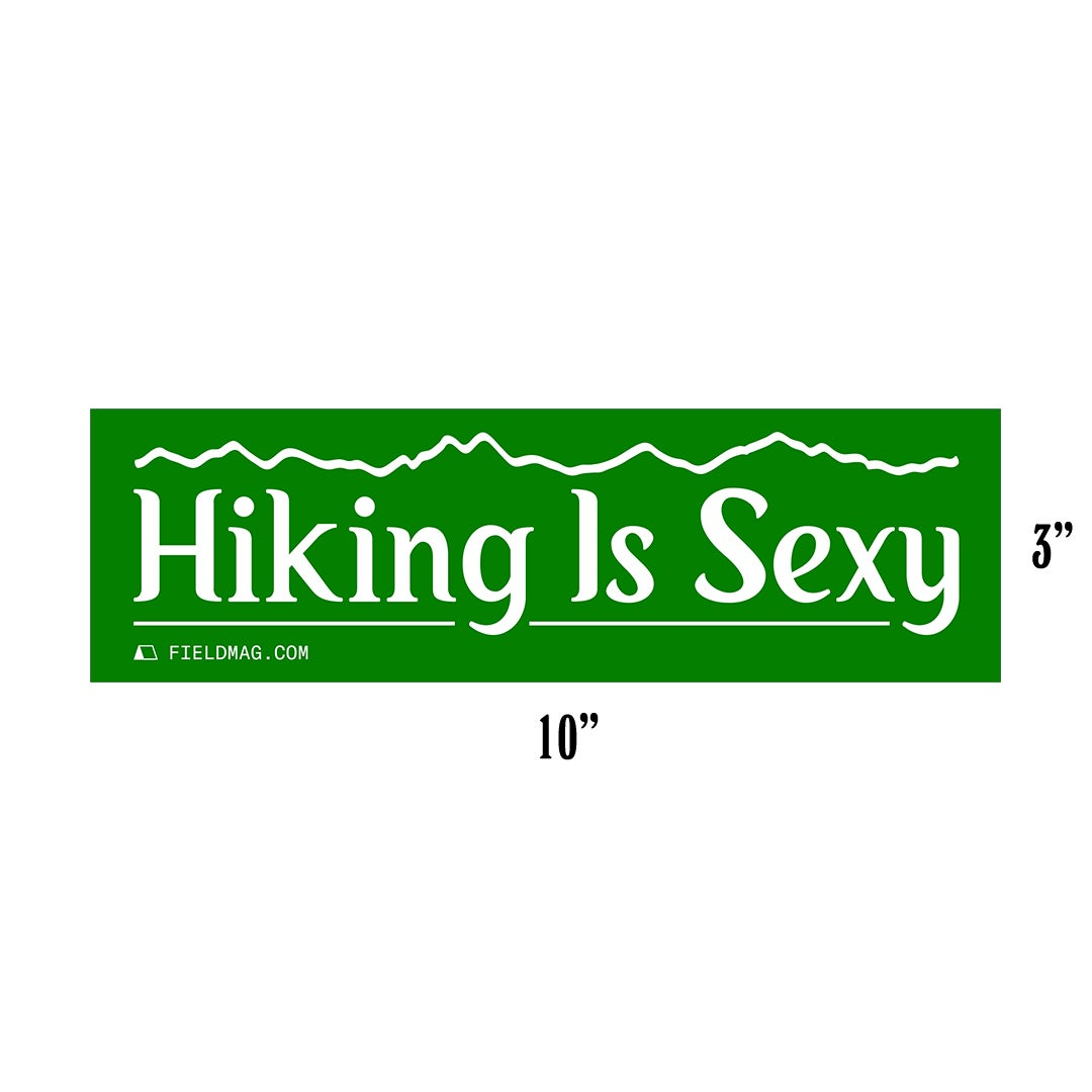 Image of Hiking Is Sexy Bumper Sticker