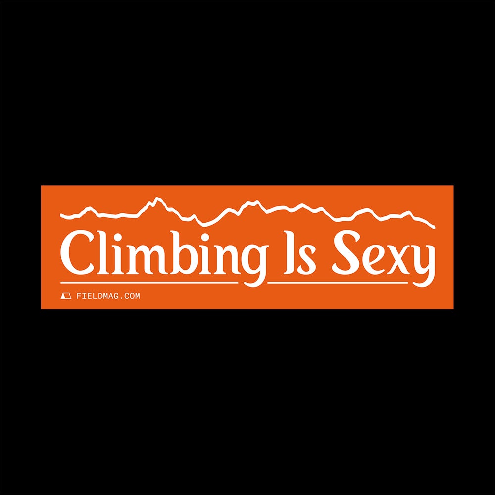 Image of Climbing Is Sexy Bumper Sticker
