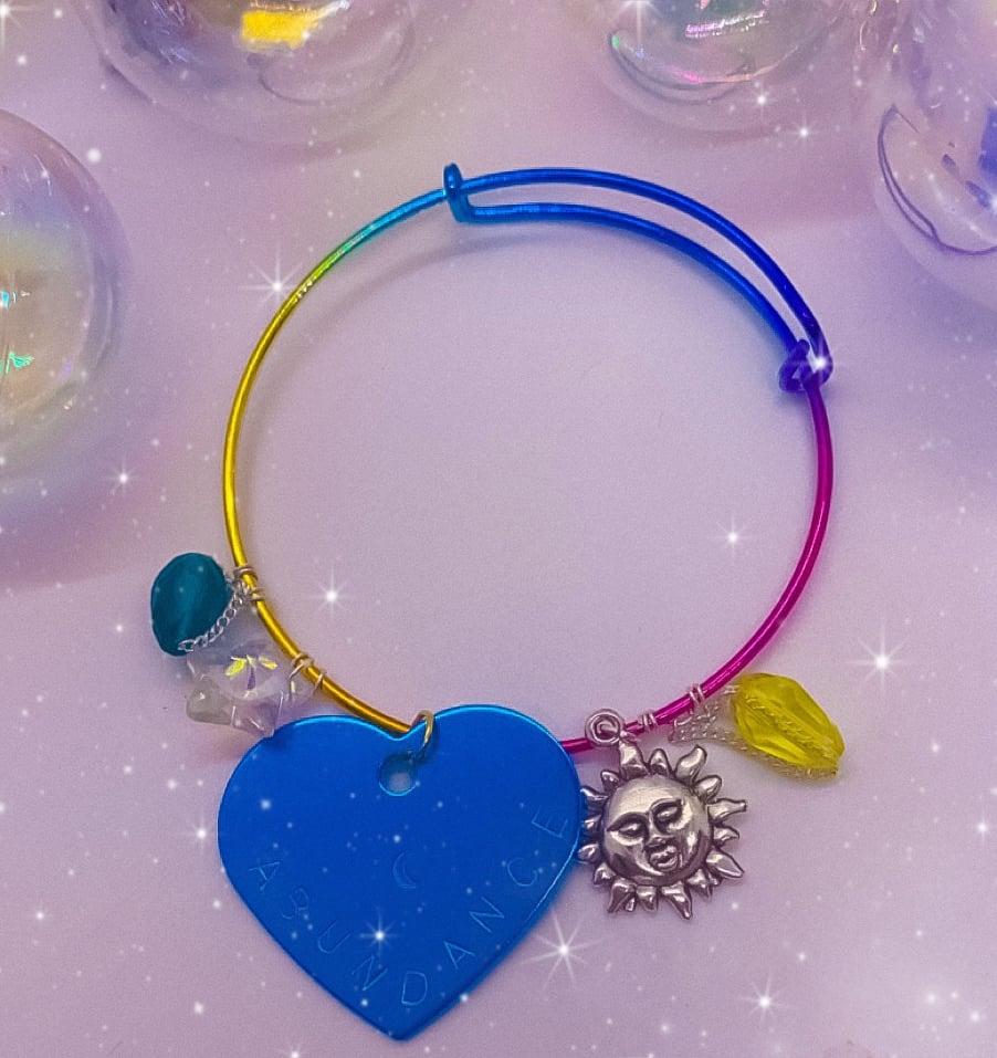 Image of abundance rainbow bracelets