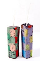 Image 2 of Mid Tower Pair in lilac, lime green, brown, sage green, grey green, blue & red