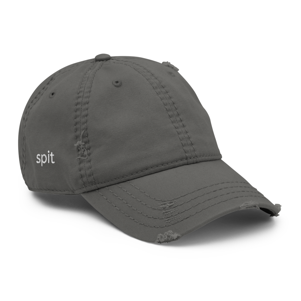 Image of Simple Logo Distressed Dad Hat(Grey)
