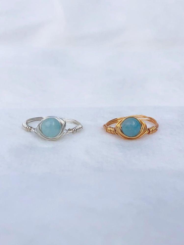 Image of Circular Blue Stone Ring