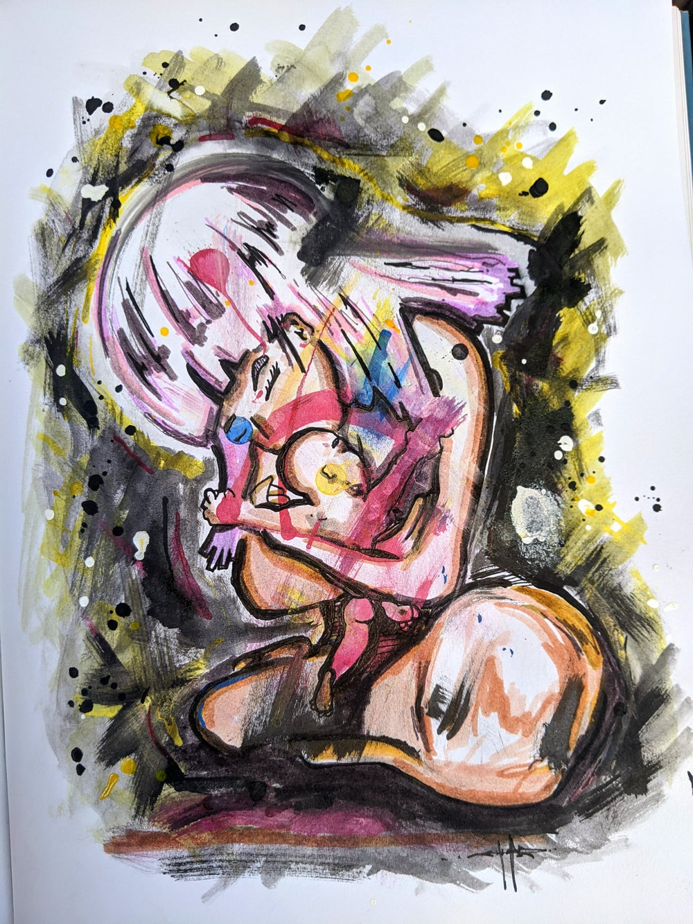 """Image of """"Embrace"""" Drawing"""