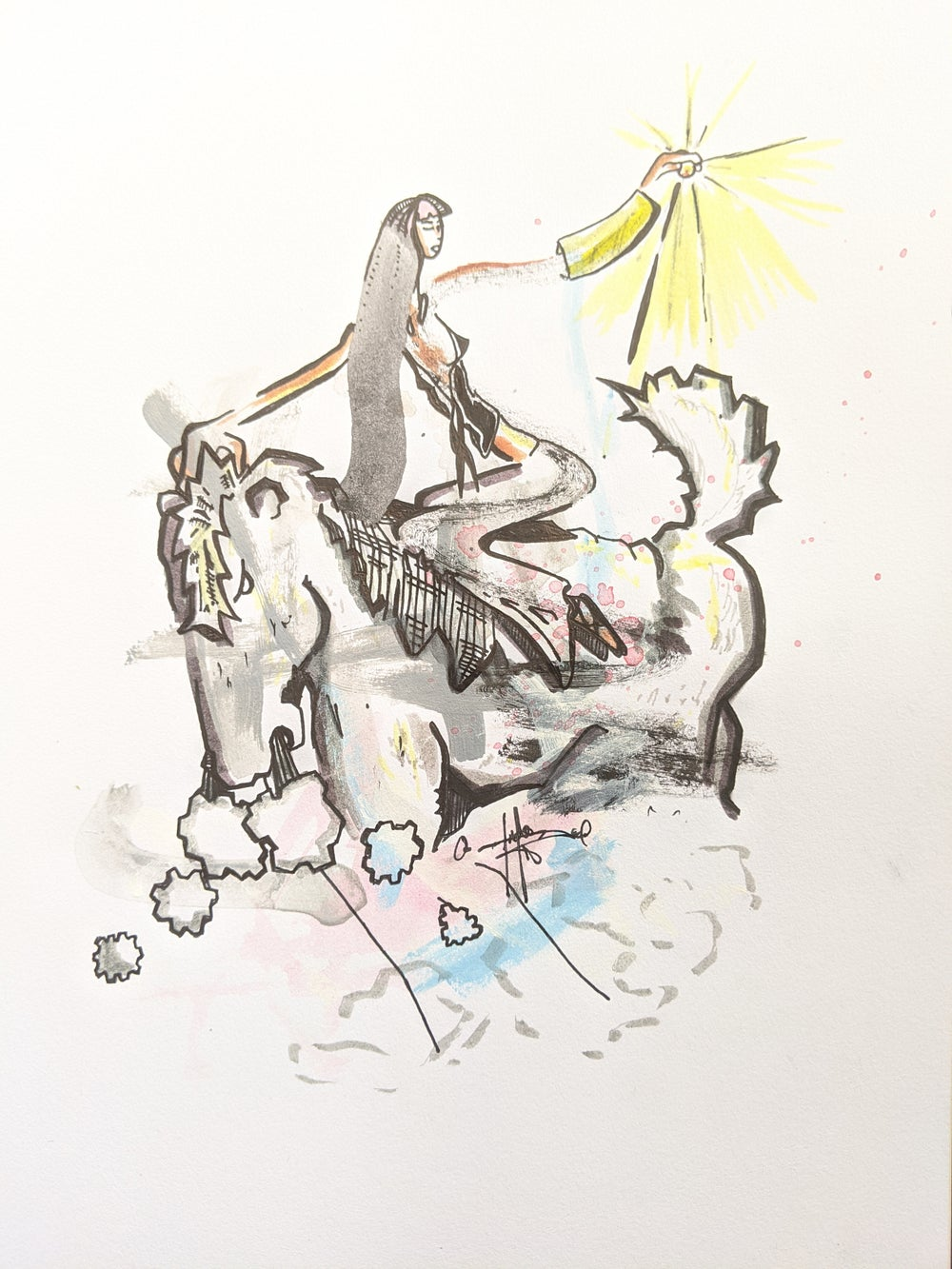 "Image of ""Grabbing sunshine"" Drawing"