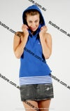 Sleeveless hoodie with open back