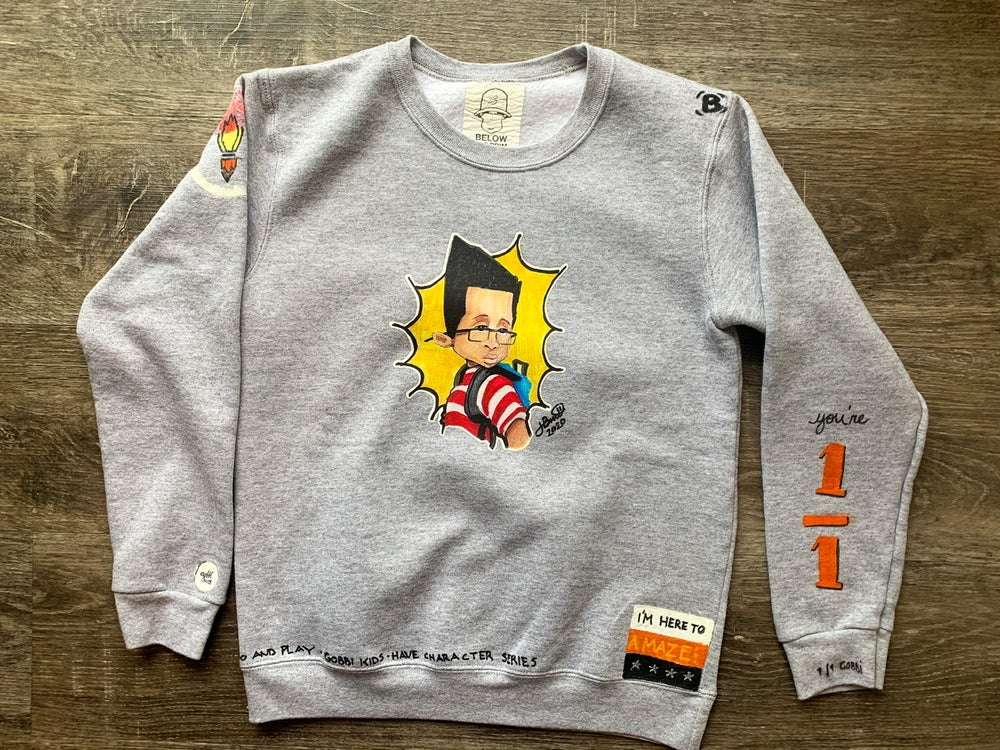Image of Gobbi Kids | Fresh : Hand crafted, Toddler Kids Youth Crewneck Sweatshirt (Short Sleeve available)
