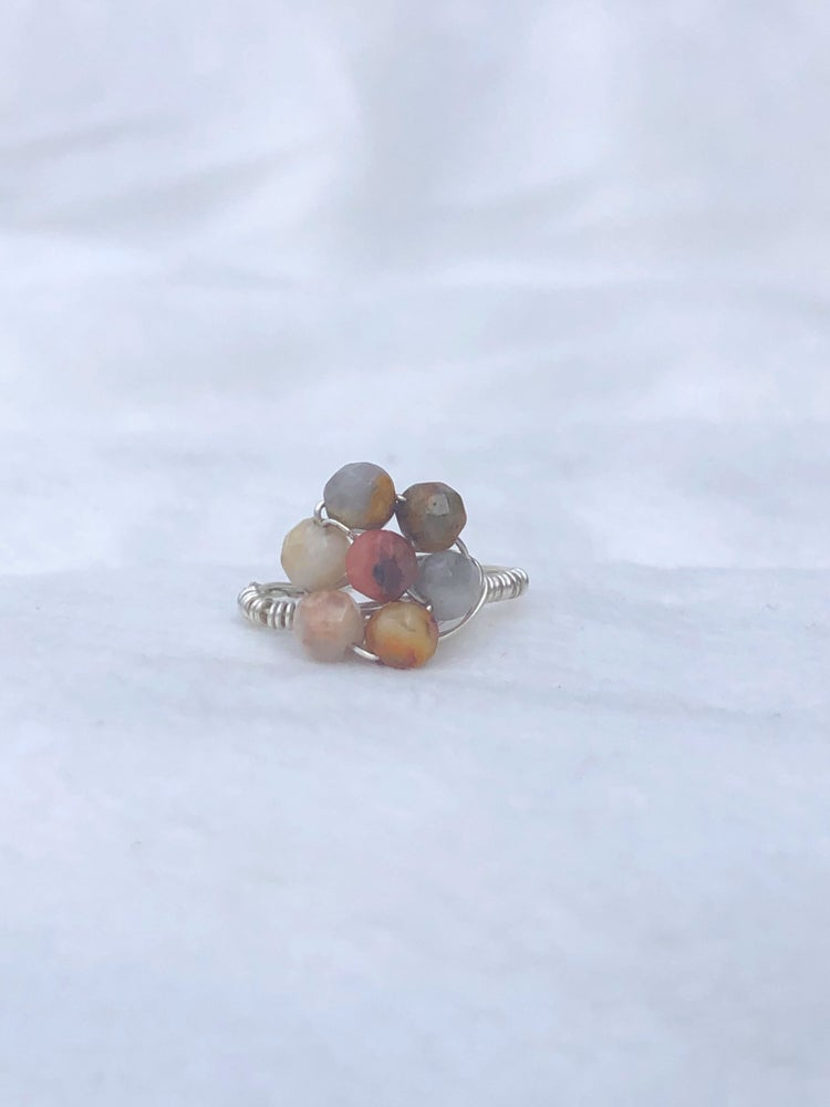 Image of Agate Flower Ring