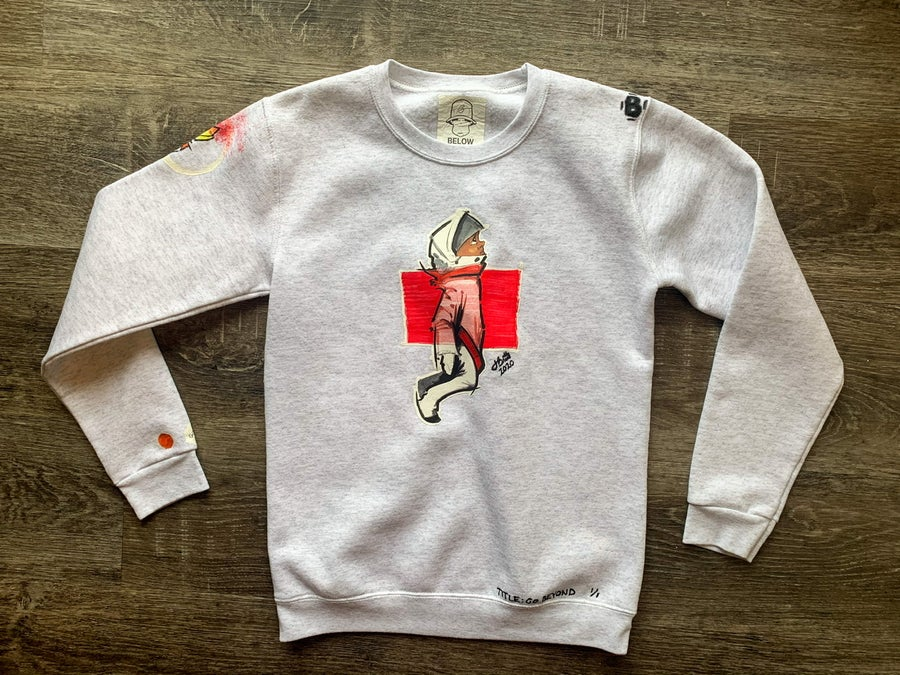Image of Gobbi Kids | Space : Hand crafted, Toddler Kids Youth Crewneck Sweatshirt (Short Sleeve available)