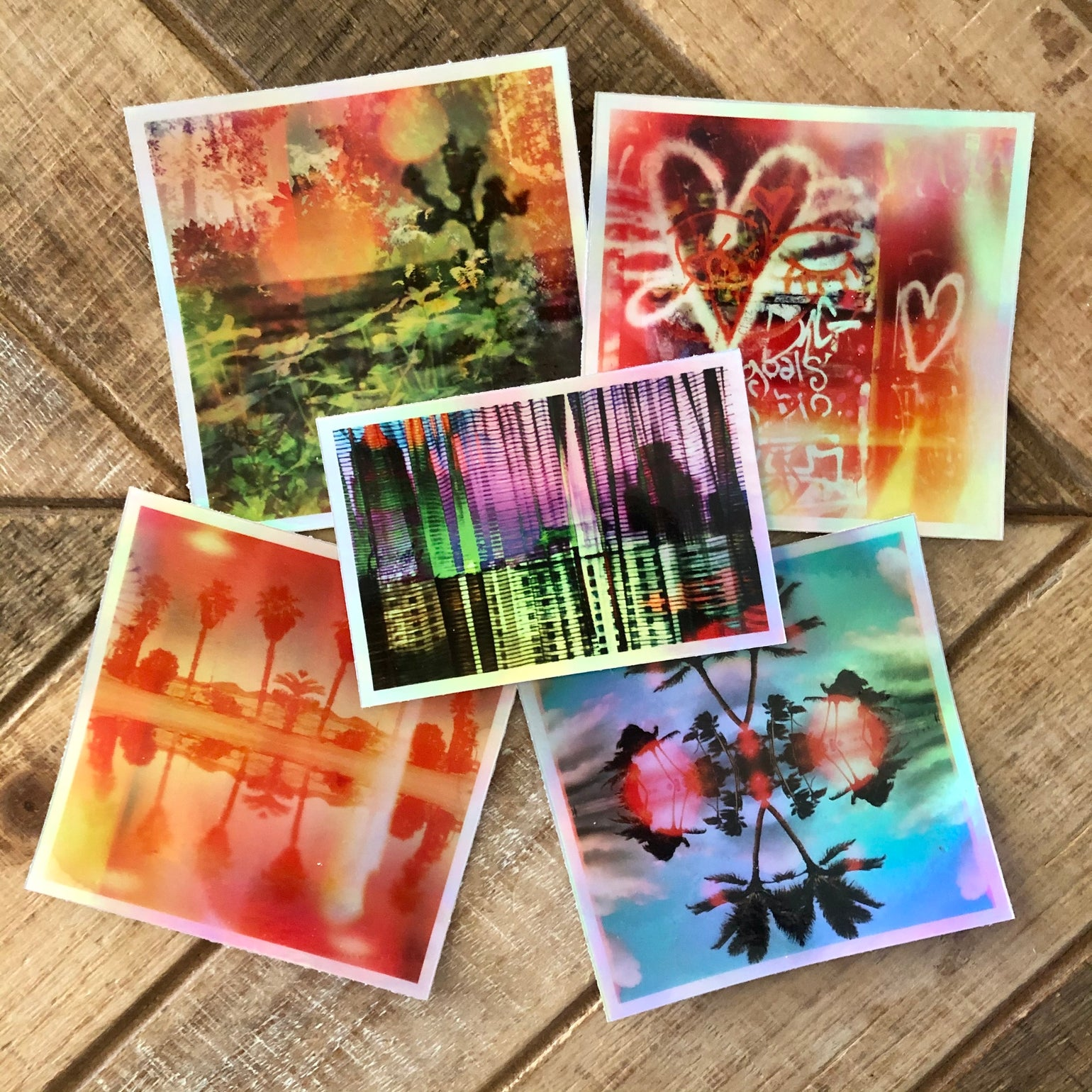 Image of Pack of 5 - Holographic Stickers