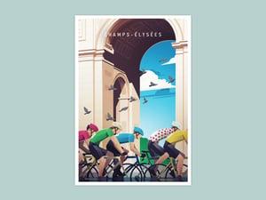 Cycling Print - Champs-Élysées