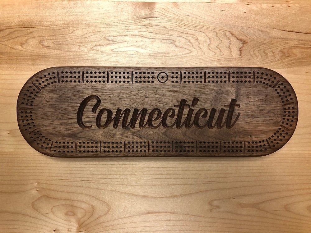 Image of Oval CT Cribbage Board