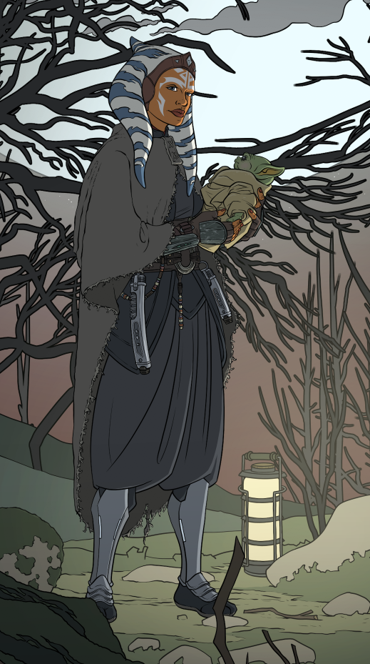 Image of Ahsoka and Grogu