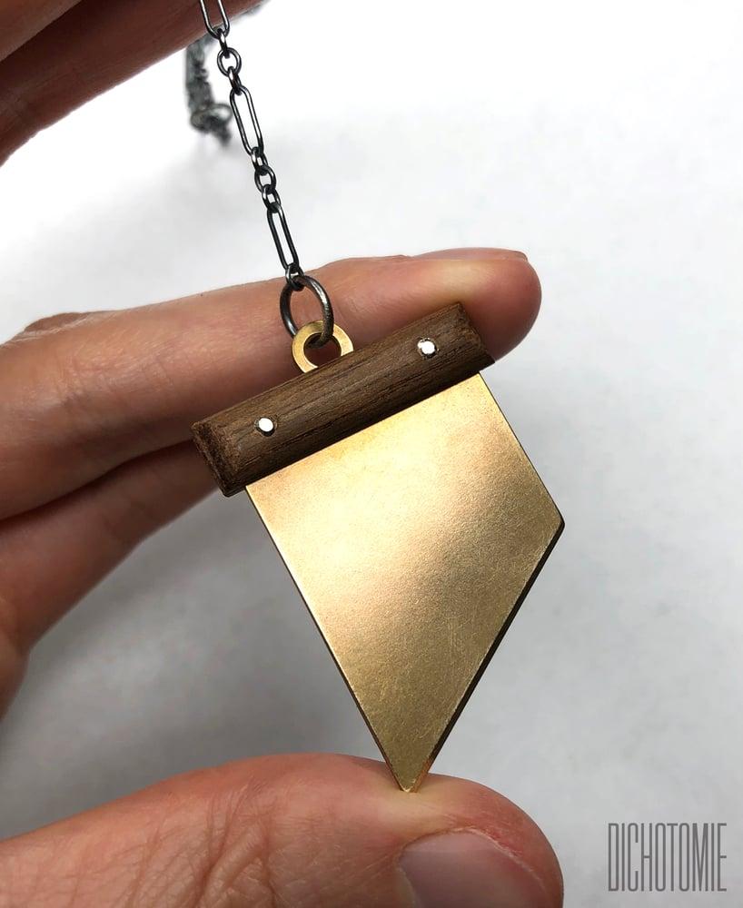 Image of La Demi-Lune Pendant (Brass)