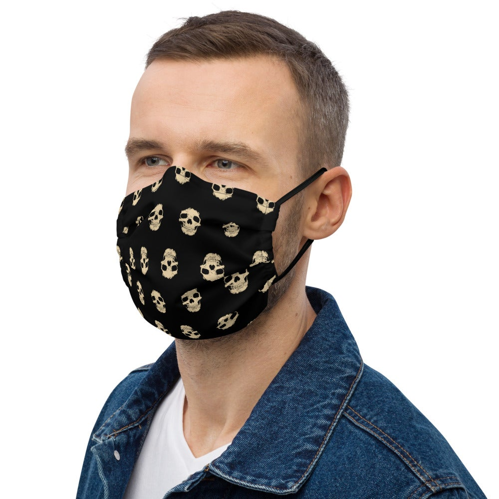 Image of Wall of Skulls Premium Face Mask