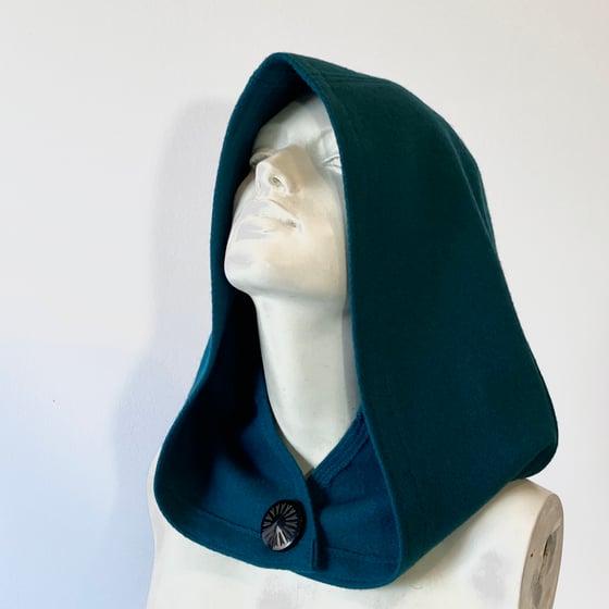 Image of Dark Teal Wool Hood