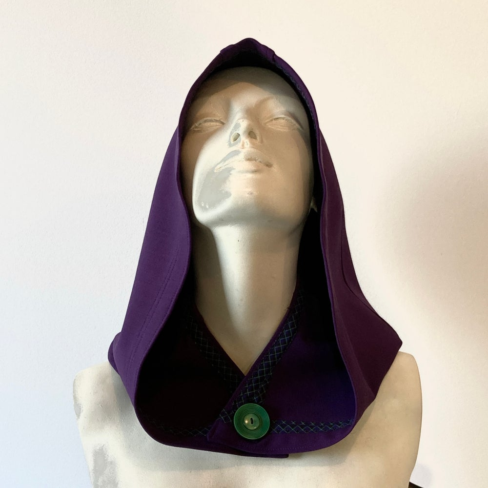 Image of Purple Wool Hood