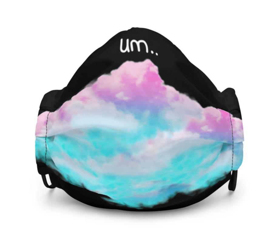 Image of skrillex 6 facemask [big cloud]