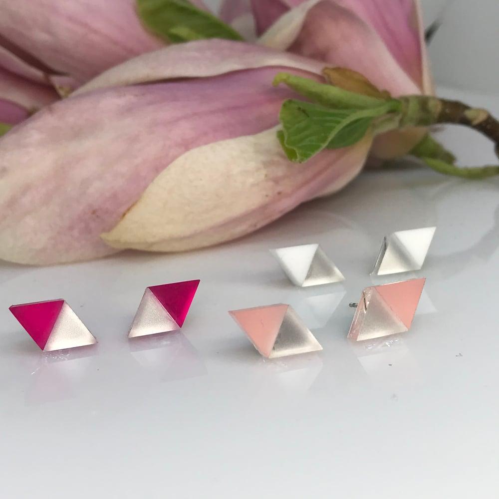 Image of Double Triangle mini silver& color