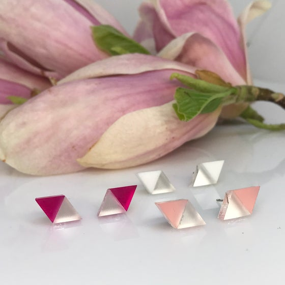 Image of Double Triangle mini silver& color