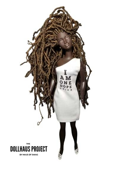 Image of I Am One Dope Chick Off-Shoulder Dress Collector Doll