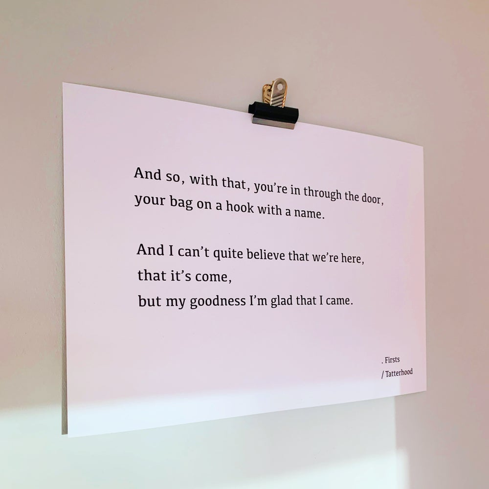 Image of Firsts - Heavy Weight Poem Art Print A3