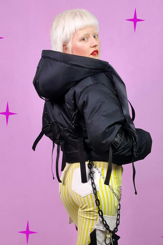 Image of Black Puffy Jacket