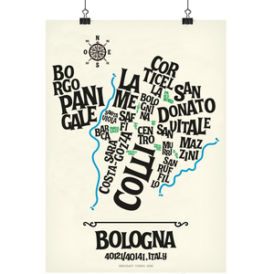 Image of BOLOGNA - Typographic Map