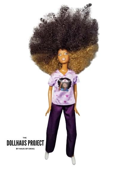 Image of Black Nurses Rock Collector Doll