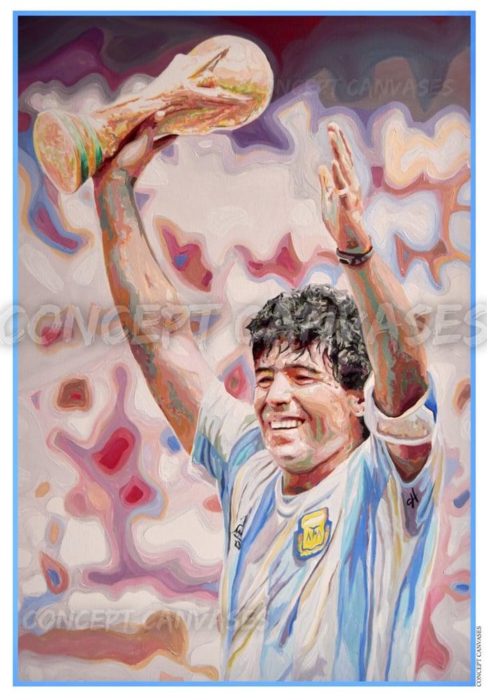 Image of Maradona 'El Pibe de Oro' A3 Print