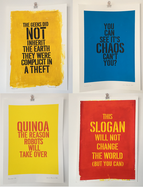Image of More Slogans from the 21st Century A3 Limited Edition Hand Pulled Screen Prints