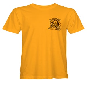 """Image of Confusion - """"Curb Shark"""" (gold) tee"""