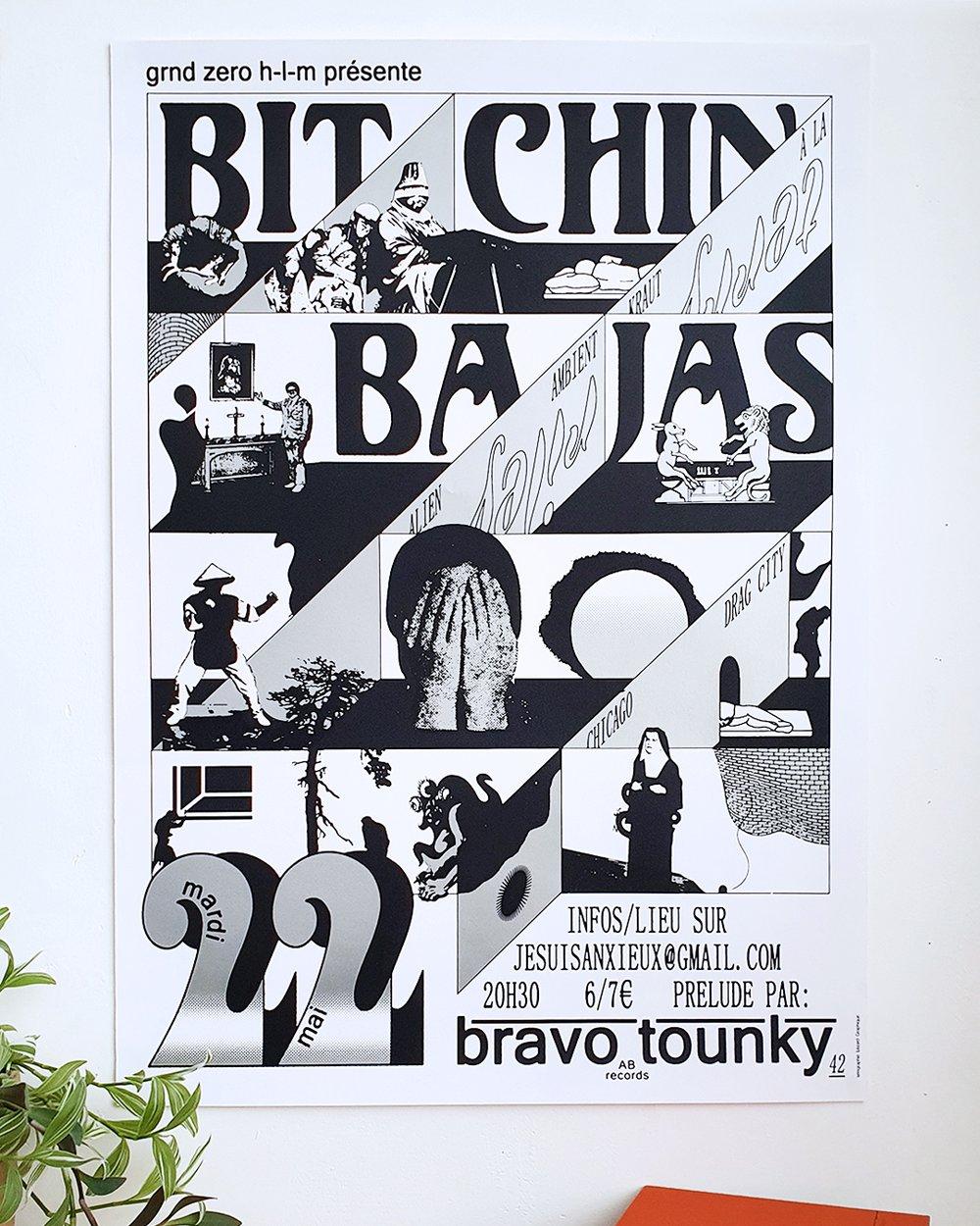 Bitchin Bajas screen printed poster