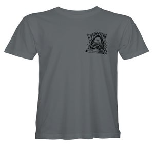"""Image of Confusion - """"Curb Shark"""" (charcoal grey) tee"""